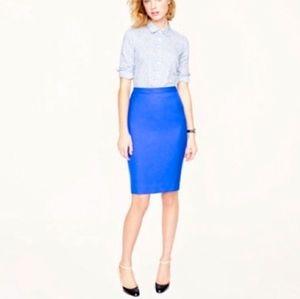 J. Crew No. 2 Pencil Skirt in Royal Blue